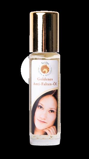 Goldenes Anti-Falten-Öl